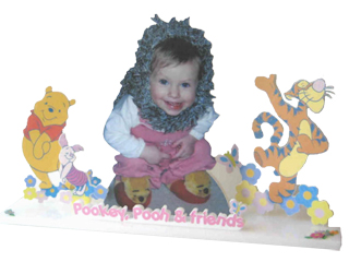 Customized 3-d sculpture-'Go Crazy' cut out with graphics & props.