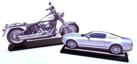cut outs of motorcycle & car