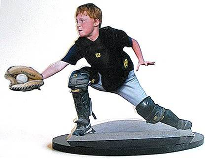 sports photo sculpture